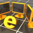 Symbol of internet with local network. 3d — Stock Photo #5082521