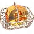 Consumer basket with sign for internet. 3d — Stockfoto