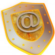 Shield with symbol for internet — Stock Photo #5082690