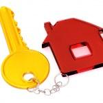 nyckel med prydnadssaker — Stockfoto