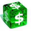 Stock Photo: Cube with dollar
