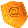 Shield with symbol for internet. — Stockfoto
