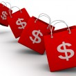 Shopping bag with dollar — Stock Photo #5083369