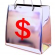 Shopping bag with dollar — Stock Photo #5083610