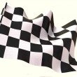 Stock Photo: Checkered flag. 3d