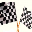 Stock Photo: Checkered flags.