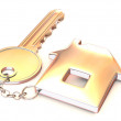 Key with trinkets — Stock Photo