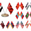 Asian flags 4. - Stock Photo