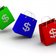 Shopping bag with dollar — Stock Photo #5084321
