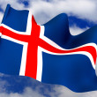 Flag. Iceland — Stock Photo