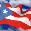 Flag. Puerto-Rico — Stock Photo