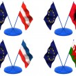 Stock Photo: Flags. Euro, Austria, Albania, Wales, Yugoslavia