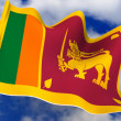 Flag. Sri Lanka. — Stock Photo
