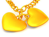 Chain with two hearts — Stock Photo