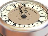 Clock. Twelve o'clock — Stockfoto
