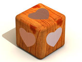 Cube with hearts — Stock Photo