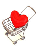 Consumer's basket with Heart. — Stock Photo