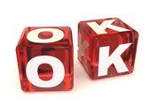 Cubes. OK — Stock Photo