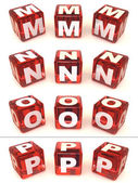 Cubes with letters. 3d — Stock Photo