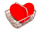 Consumer's basket with Heart — Stock Photo