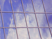 Sky in Window, abstract background — Stock Photo