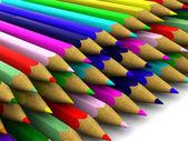Pencils. background. 3d — Stock Photo