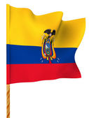 Flag. Ecuador. 3d — Stock Photo