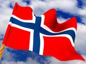 Flag. Norway — Stock Photo