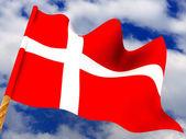 Flag. Denmark — Stock Photo