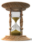 Hourglass. 3d — Stock Photo