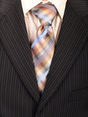 Suit with necktie. Background. — Stock Photo