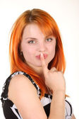 Portrait of beautiful red-haired girl — Stock Photo