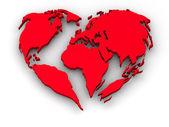 Terre en forme de coeur — Photo
