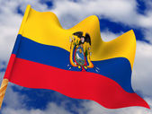Flag. Ecuador — Stock Photo