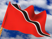Flag. Trinidad and Tobago — Stock Photo