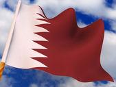 Flag. Qatar. — Stock Photo