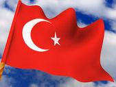 Flag. turkey. — Stock Photo