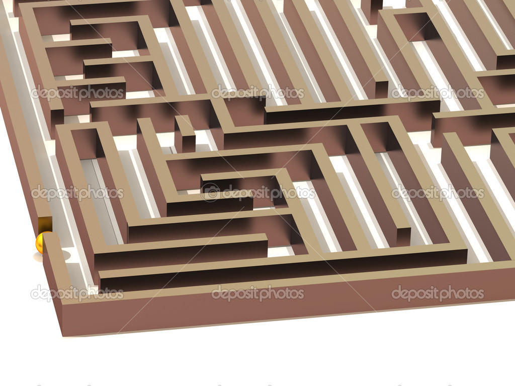 Labyrinth. 3d — Stock Photo #5081244