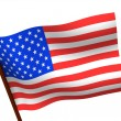 Flag of USA. 3d — Stock Photo