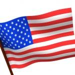 Flag of USA. 3d — Stock Photo