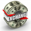 Currency exchange. dollar — Stock Photo