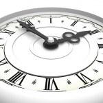Clock. Three o'clock — Stockfoto
