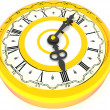 Clock. Four o'clock. 3d — Stock Photo #5093575