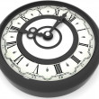 Stock Photo: Clock. eight o'clock. 3d