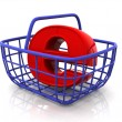 Consumer's basket with symbol for internet — Stock Photo