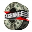 Currency exchange. dollar — Stock Photo #5093665