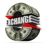Currency exchange. dollar — Stock Photo
