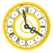 Clock. Four o'clock — Stockfoto