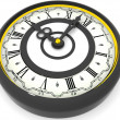 Stock Photo: Clock. Nine o'clock. 3d