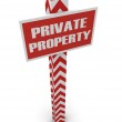 "Post ""private property"" — Stock Photo"